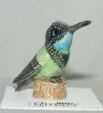 More details for little critterz miniature porcelain bird magnificent hummingbird
