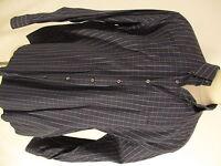 Gitman Bros Mens Navy Check Long Sleeve Cotton Shirt XXL USA Made