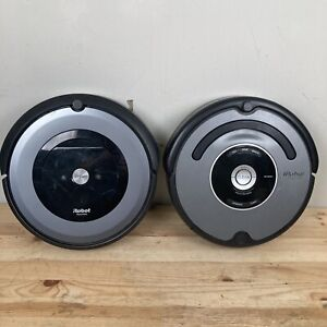 (2) iRobot Roomba E6, 550, Units For REPAIR , Both Turn On, Needs New Batteries