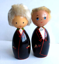 1960s Ussr Estonia Salvo Wooden Folk Dolls Souvenir Set