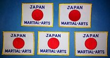 5 Lot 1970's Japanese Japan Flag Martial Arts Embroidered Jacket Patches 467
