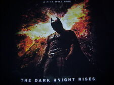 licensed THE DARK KNIGHT RISES  t shirt - A FIRE WILL RISE - (M)