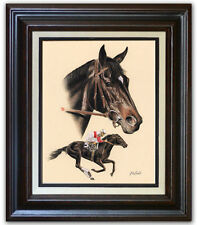 Rohde RUFFIAN horse racing FRAMED CANVAS GICLEE ART famous equine painting NICE!