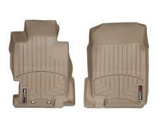 WeatherTech FloorLiner Mats for Acura TL - 2004-2008 - 1st Row - Tan
