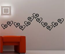 CLASSIC HEARTS  wall art vinyl kids bedroom lounge love