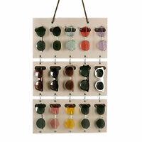 Sunglasses Organizer Storage Detachable Eyeglasses Wall Pocket Hanger with Hooks