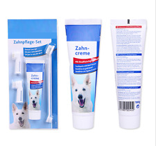 Puppy Pet Dog Toothpaste Beef  Flavour + Pet Toothbrush +Back Up Brush Set