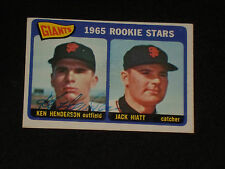 KEN HENDERSON 1965 TOPPS ROOKIE SIGNED AUTOGRAPHED CARD #497 SF GIANTS