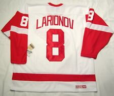 IGOR LARIONOV sz XL Detroit Red Wings CCM 550 VINTAGE series Hockey Jersey white
