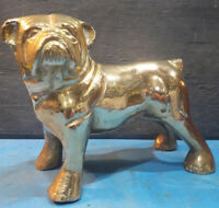 Vintage Old Heavy Brass Bulldog, Ornament, Statue,Paperweight,Collectibles