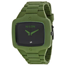 Nixon Player Matte Green Rubber Mens Watch A1391042