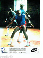PUBLICITE ADVERTISING 056  1987  Nike  baskets  Air Force High 2