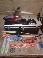 Cox .051 RC nitro lite machines helicopters and accessories.