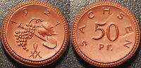 Allemagne - Saxe - notgeld - 50 pfennig 1921 porcelaine ! SUP - Men05# 22281.9