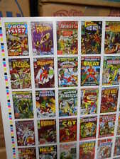 Marvel comics first issue covers cards set rare uncut sheet 1984