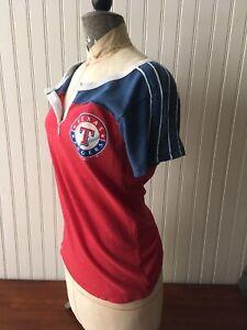 New Era, Women's, Texas Ranger, Baseball,  Medium, Short Sleeve Shirt