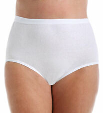Fruit Of The Loom Fit for Me Women`s Plus Size Cotton White Brief Panties