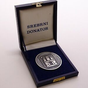 1987 Summer Universiade Zagreb Yugoslavia Silver Medal for Donors in Box