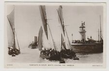 Kent postcard - Ramsgate Pleasure Boats Leaving The Harbour - RP - P/U 1909
