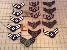 Assorted military rank insignia patches