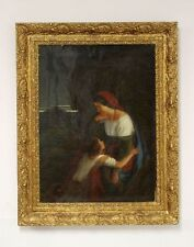 Altes Gemälde Frau mit Kind