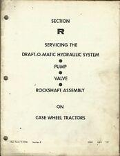 Case Wheel Tractor Draft O Matic Hydraulic System Pump Valve Rockshaft Section R