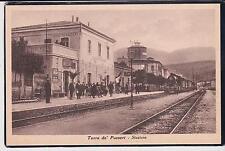 TORRE DE' PASSERI PESCARA STAZIONE CON TRENO ANIMATA 1940 SUPER !
