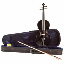 Koda Beginner Violin, 4/4 Size Fiddle, Comes with Case, Bow & Rosin - BLACK