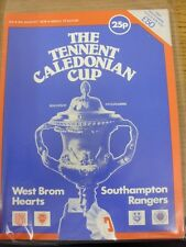 1978/1979 TENNENT 'CALEDONIAN Cup: PROGRAMMA UFFICIALE/Torneo brochure del