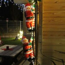 Lichtschlauch mit 2x Weihnachtsmann hängend wie an Leiter für innen außen 48 LED
