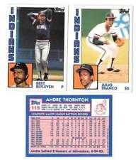 1984 Topps Tiffany - CLEVELAND INDIANS Team Set