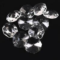 26mm Clear Crystal Octagon Beads Crystal Chandelier 2Hole Prisms Decoration