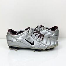 New listing Vintage 2004 Nike Total 90 III FR Soccer Football Cleats Silver Maroon Men's 11