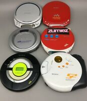 Sony Walkman CD Players Not working For Parts/Repair Lot of 6 - Fast Ship G08