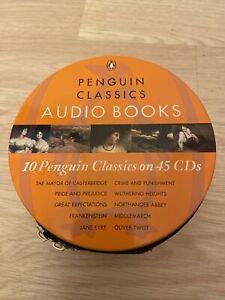 10 PENGUIN CLASSICS ON 45 CDs 10 x Audio Books VGC Ted Smart RRP £129.90