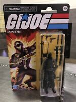 GI Joe Retro SNAKE EYES Walmart Exclusive  3.75 New Hasbro In Hand