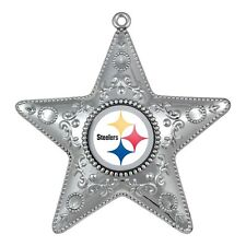 Pittsburgh Steelers Christmas Ornament  4 3/8 Star ornament
