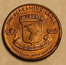 The Screaming Eagle 101st Airborne Division Associaton Army Challenge Coin