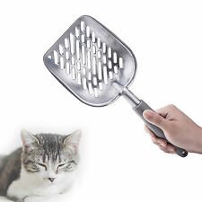 NEW Solid Metal Litter Shovel Cat Scoop Rubber Grip Large Metal Steel Litter