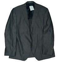 J. Philipp Herren Leinen Sakko Blazer Jacke Business Anzug Gr. 26 L Grau TOP