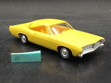 VTG B1 1968 Ford Galaxie GT FRICTION DEALER PROMOTIONAL Car 1/25 yellow