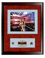 WWE BECKY LYNCH OFFICIAL LICENSED WRESTLEMANIA 35 16X19 RING CANVAS PLAQUE RARE