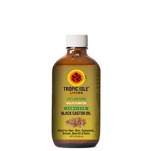 Tropic Isle Living - 100% Natural JAMAICAN BLACK CASTOR OIL -  4 Oz,Glass Bottle