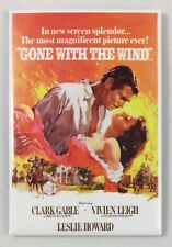 """Gone With the Wind Movie Poster- Tin Sign Magnet- 2""""x3"""" Vintage Retro Look- NEW!"""