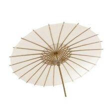 Ombrelle en Papier Blanche avec Structure Bambou 84 cm