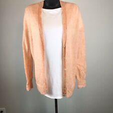 J. Crew Pink Mohair Button Up Cardigan Sweater Size S Small Long Sleeve NWT