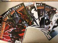 SECRET INVASION (2008 Marvel) #1-8 NM Full Run Lot Avengers X-Men Movie Soon 🔥