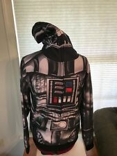 NWT Star Wars Darth Vader Sublimated Costume Hoodie Zip Mask Sweatshirt SMALL S