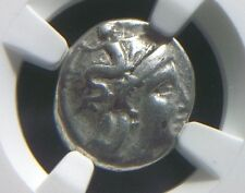Rare Greek Silver drachm from the City of Taras in Calabria,  NGC Ch F 3001
