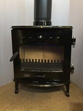 Carron 4.7KW Black Enamel Cast Iron Wood Burning Multifuel Stove DEFRA Approved
